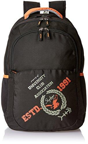 Skybags Geek 32 cms Black Laptop Backpack (GEEK01BLK)