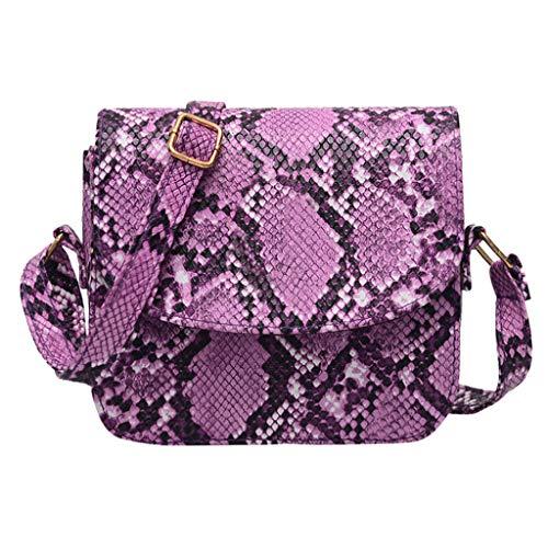 Londony ✡ Women Snakeskin Pattern Handbag Envelope Clutch Bag with Metal Chain Strap Retro Purse Leather Handbag