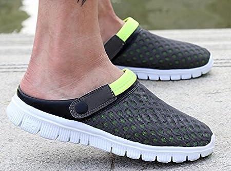 2017 modelos de explosión de malla zapatillas de tela zapatos semi-casual para hombres y mujeres par de sandalias yardas grandes , 3 , US 9.5(EUR 42.5)