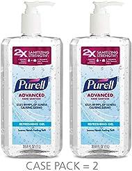 PURELL Advanced Hand Sanitizer Refreshing Gel, Clean Scent, 1 Liter Pump Bottle (Pack of 2) - 3080-02-EC