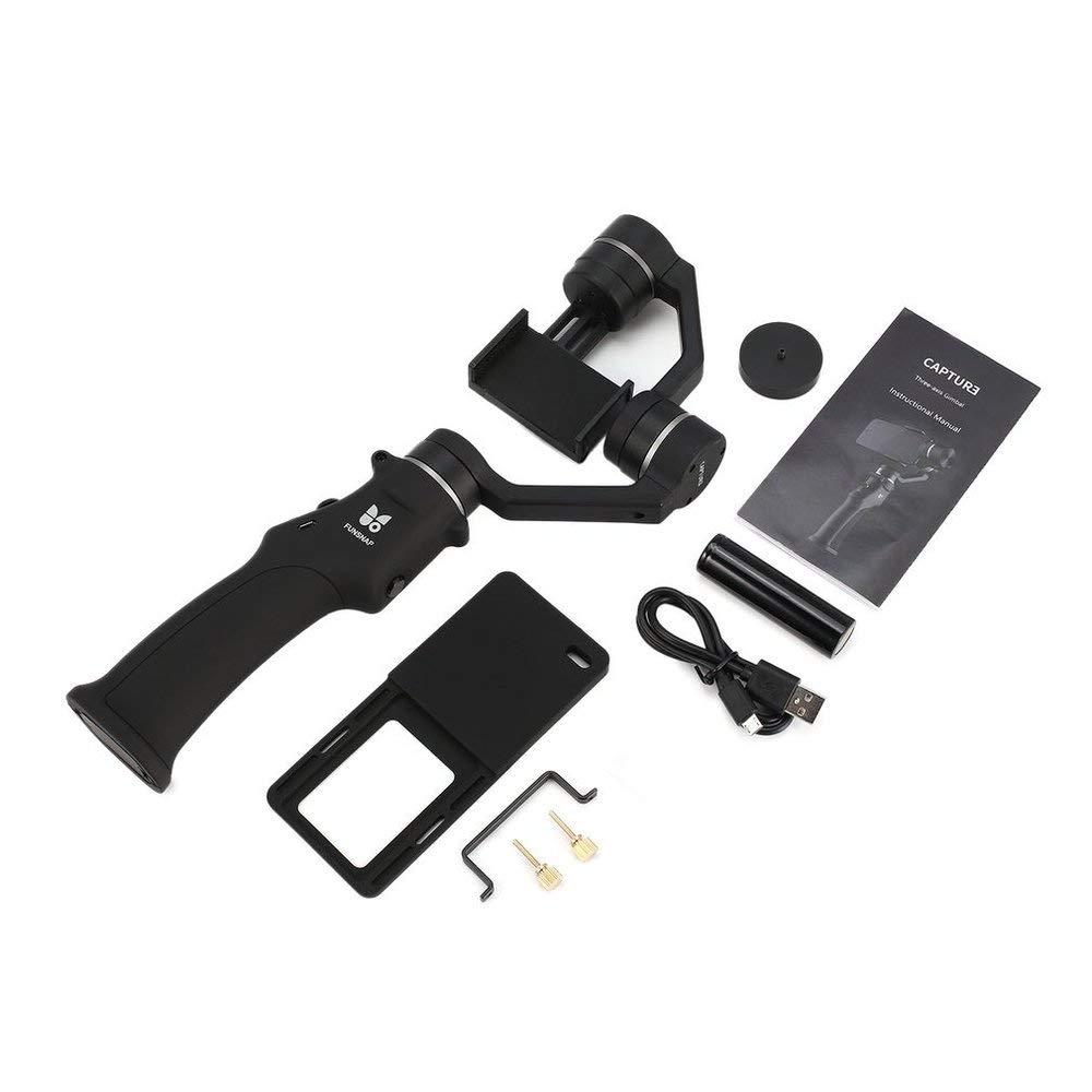 Erduo Funsnap Capture Selfie Smartphone Brushless Stabilisator Handheld 3-Achsen-Gimbal mit Clip-Adapter für GOPRO / YI / Sargo Cam Phone