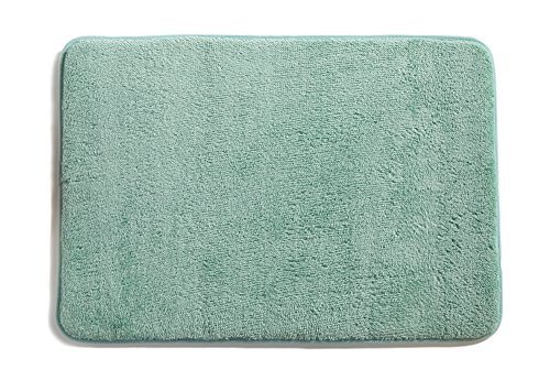 Ocean Blue Foam (Plush Memory Foam Anti-Fatigue Bath Mat. Multi-Purpose, Non-Slip, Absorbent Laundry Room, Kitchen, Bath and Shower Rug. Eleanora Collection By Great Bay Home Brand. (Ocean Wave, 20