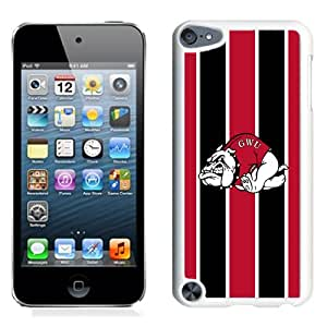 Fashionable And Unique Designed With NCAA Big South Conference GardnerWebb Runnin Bulldogs 1 Protective Cell Phone Hardshell Cover Case For iPod 5 Phone Case White