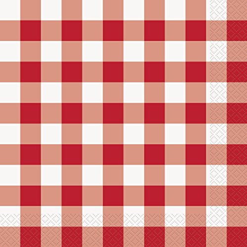 Unique Industries Summer Picnic Gingham Checkered 2-PLY 15.75