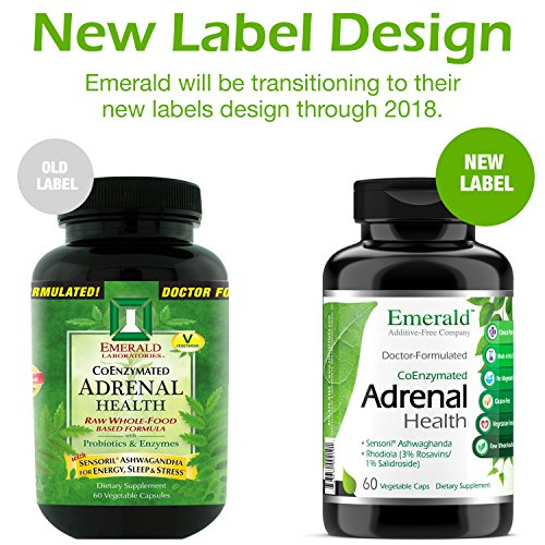 Adrenal Health - with Sensoril Ashwagandha for Improved Energy Levels, Sleep Support, Stress Relief, Promotes Mental Clarity - Emerald Laboratories - 60 Vegetable Capsules by Emerald Laboratories (Image #6)