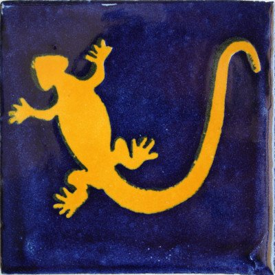 4x4 9 pcs Lizard Talavera Mexican Tile