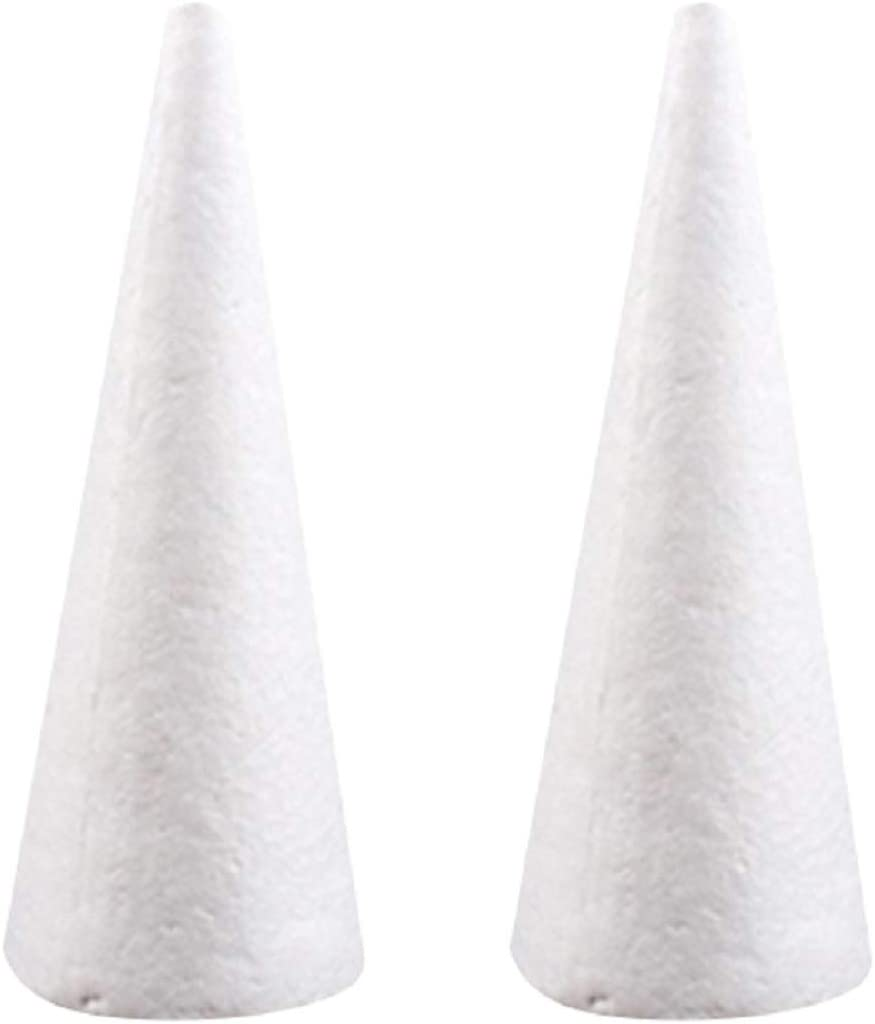 Holibanna 12Pcs Christmas Styrofoam Craft Shapes White Foam Santa Claus Polystyrene Ball Modelling Mould DIY Foam Mold for DIY Paint Christmas Tree Table Centerpiece