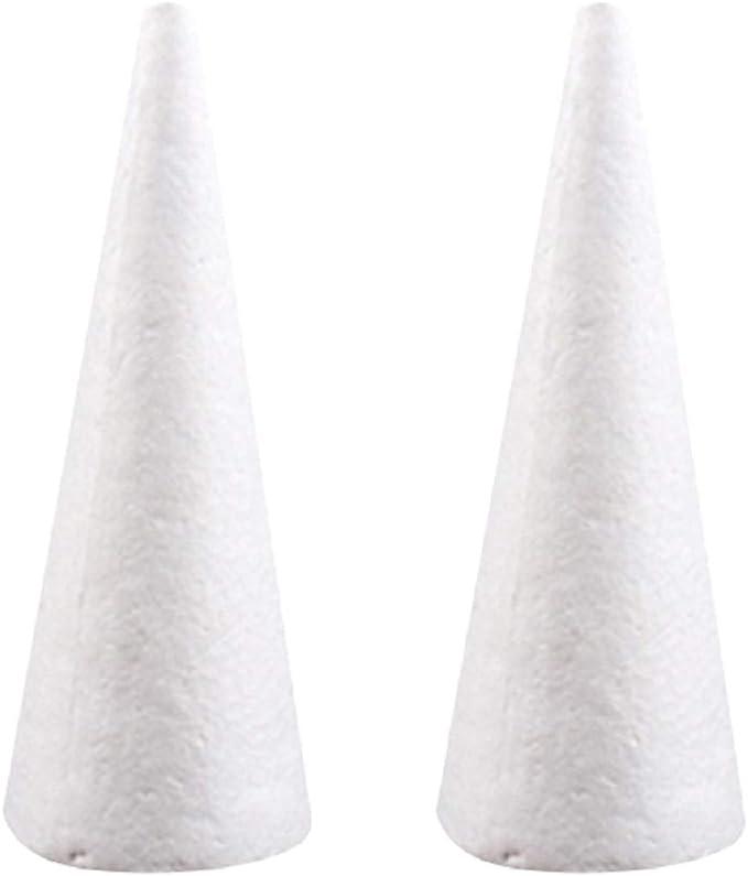 Esquirla 30x Styrofoam Foam Ornaments Cone