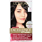 L'Oreal Paris Excellence Creme Hair Color, 1C Cool Black