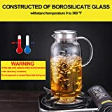 GOODESERVE 1 Liter Water Carafe Glass Pitcher with