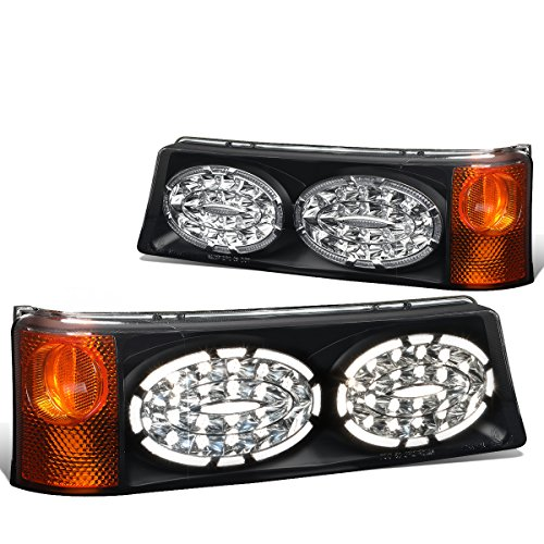 - DNA Motoring PL-403462PBS Smoked Lens LED Look Turn Signal Lamps [For 03-07 Chevy Silverado 1500-3500]