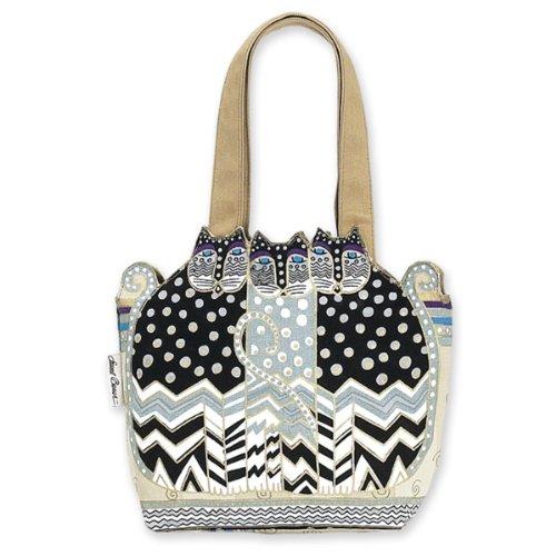 - Laurel Burch TRES GATOS Polka Dot Medium Tote Bag