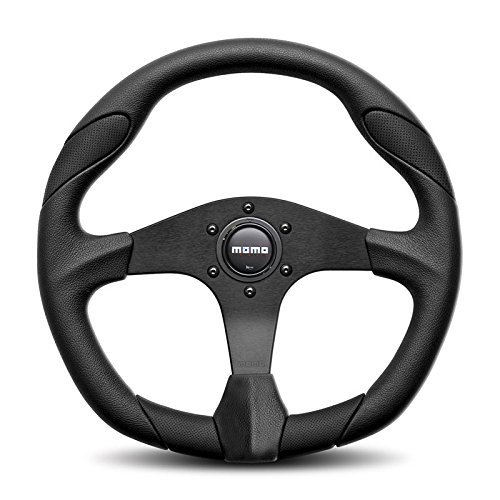 Momo Quark Steering Wheel QRK35BK0B (350mm Diameter, Black) Momo Automotive Accessories Inc