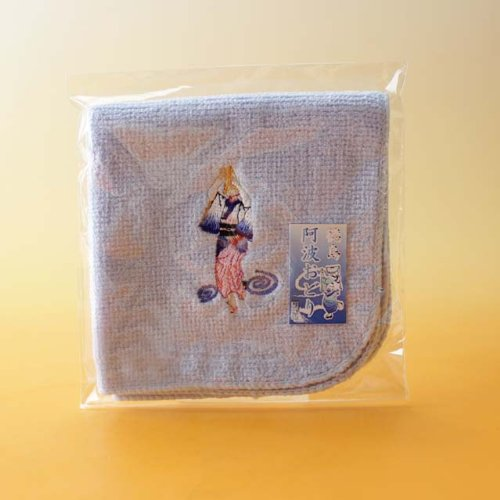 Gotochi hand towel Awa dance embroidery blue T7 by Tokushima Prefecture Bussan Museum
