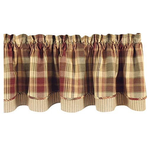 Park Designs Saffron Country Lined Layer Valance,72 Wide x 16 Long