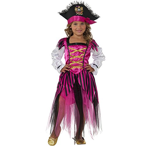 Rubie's Pirate Adventuress Toddler Girls Costume with Pirate Hat Size 3T-4T (Little Girls Pirate Costume)
