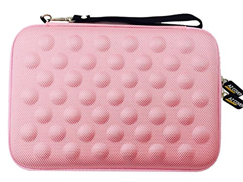 AZ-Cover 10-Inch Tablet Semi-rigid EVA Bubble Foam Case (Baby Pink) With Wrist Strap For DeerBrook XF-10A 10.1