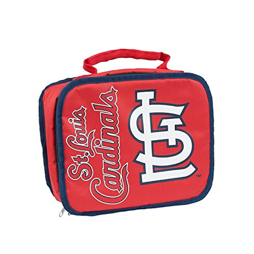 Officially Licensed MLB St Louis Cardinals Sacked Lunchbox, 10.5-Inch, Red (Louis Cardinals Color Print)