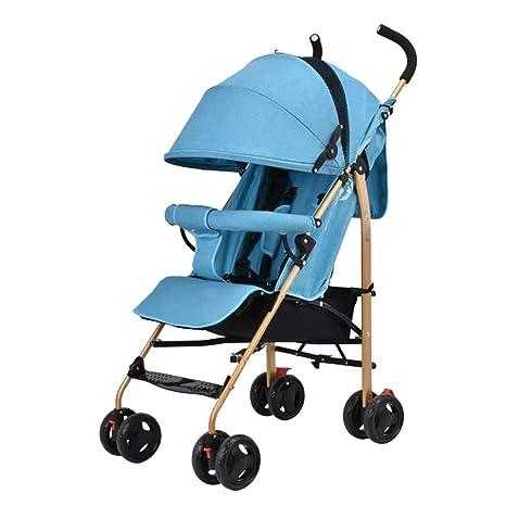 Guo@ La carretilla del bebé puede sentarse y acostarse ultraligero plegable Baby Buggy portátil Mini