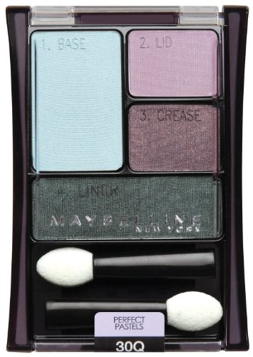 Pastel Shadow - Maybelline New York Expert Wear Eyeshadow Quads, 30q Seashore Frosts Perfect Pastels, 0.17 Ounce