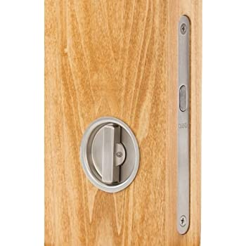 Omnia 3910 Mortise Lock For Wood Pocket Doors Brushed