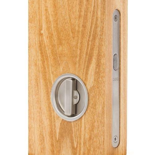 Omnia 3910 Mortise Lock for Wood Pocket Doors, Brushed Stainless (Omnia Locks)