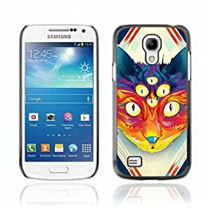 Designer Depo Hard Protection Case for Samsung Galaxy S4 Mini / Psychedelice Cat
