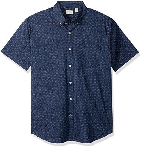 Dockers Hombre comodidad del estiramiento suave no Arruga manga corta botón frontal Camisa