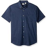 Dockers Men's Comfort Stretch Soft No Wrinkle Short Sleeve Button Front Shirt