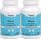 Vitacost Niacin Non – Flushing — 1000 mg per serving – 100 Capsules – 2PC