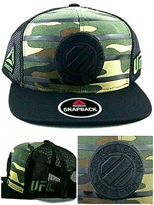 Reebok UFC MMA New Camo Camouflage Octagon Mesh Era Trucker Snapback Hat Cap by Reebok