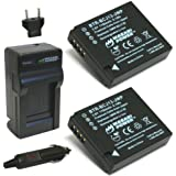 Wasabi Power Battery (2-Pack) and Charger for Leica BP-DC10, BP-DC10-E, BP-DC10-U and Leica D-Lux 5, D-Lux 6