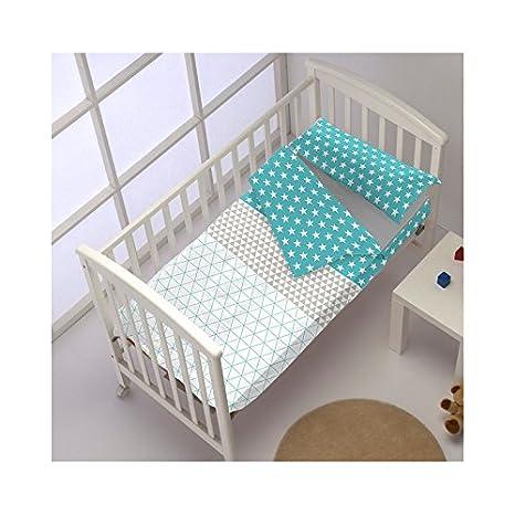 Saco Nórdico CON Relleno TRIANGLE col.azul para cama de 70 x 160 cm.: Amazon.es: Bebé