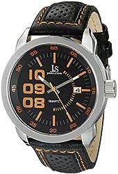 Joshua & Sons Men's JX106OR Analog Display Quartz Black Watch