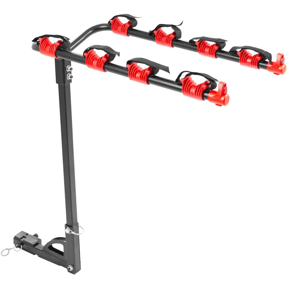 Apex Rage Powersports HMBC-4 4-Bike Hitch Mounted Receiver Bicycle Carrier Rack (1-1/4' or 2')