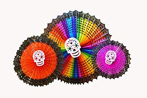 Dia de los Muertos,Colorful Halloween Decoration Tissue SpiderWeb