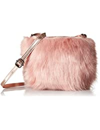 T-Shirt & Jeans Faux Fur Mini Cross Body