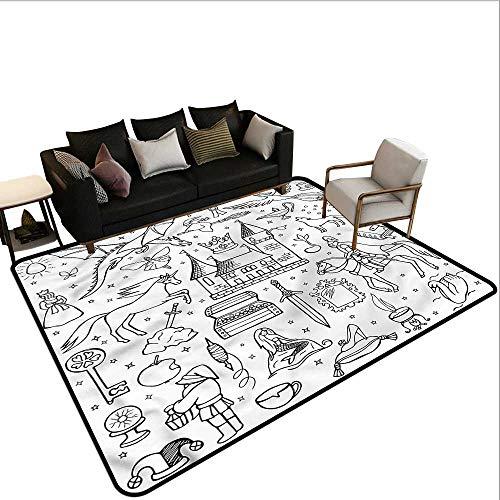 (Doodle,Large Floor Mats for Living Room 24
