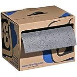 """New Pig MAT141 Polypropylene Absorbent Mat Roll in Dispenser Box, 9.8 Gallon Absorbency, 150' Length x 15"""" Width"""