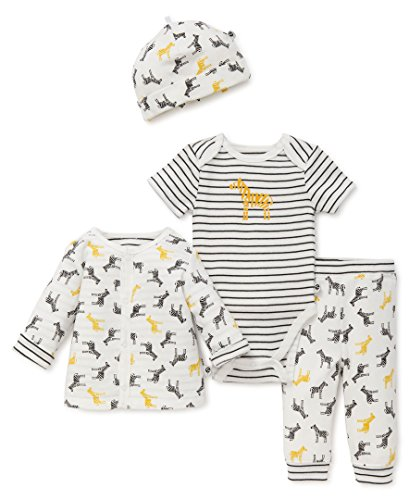OffSpring - Baby Apparel Baby Boys' 4 Piece Reversible Jacket Take Me Home Sets, Wild Zebras 9M