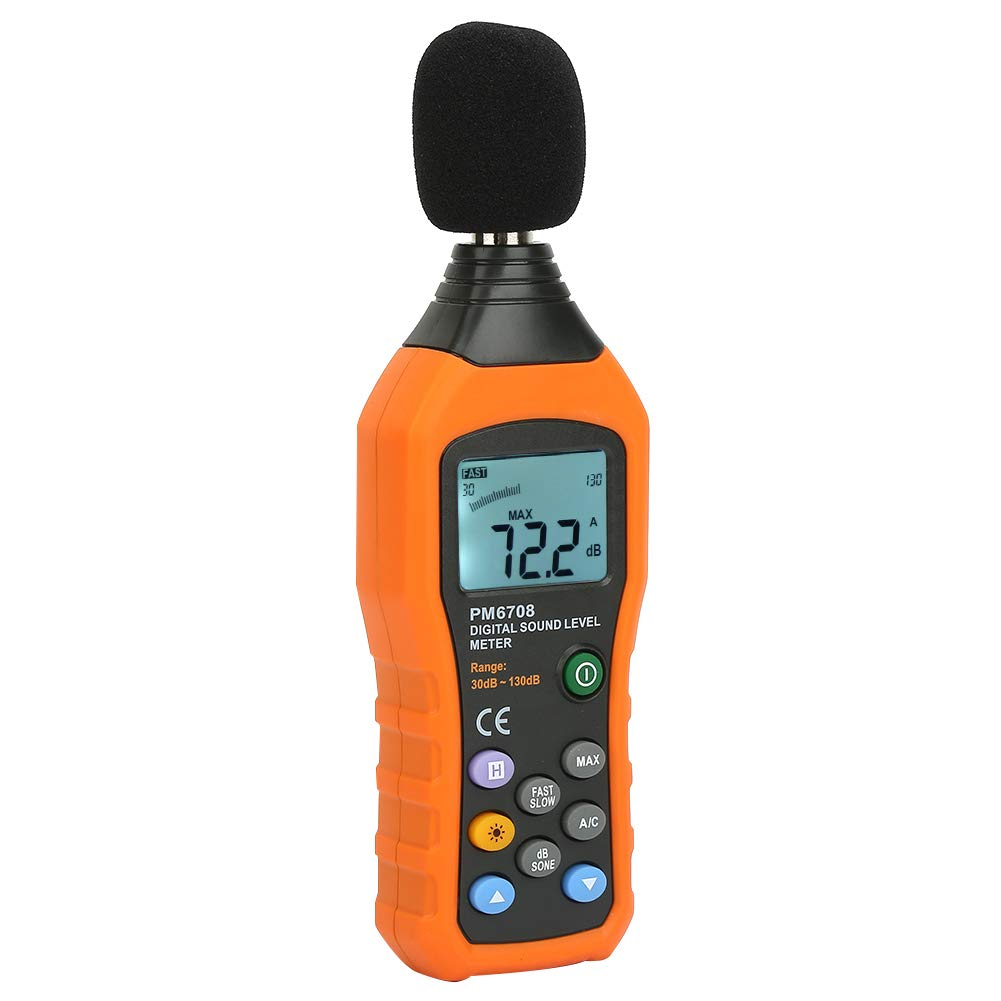 Professional LCD Display Noise Measuring Tester High Accuracy Digital Sound Level Meter for Monitoring Workplace Machines for Industry and Daily Life