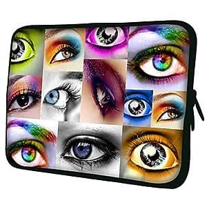 "conseguir Eyes Pattern 7 ""/ 10"" / 13 ""Laptop Sleeve Case para el MacBook Air Pro / Mini Ipad / Galaxy Nexus Tab2/Sony/Google 18197 , 10"""
