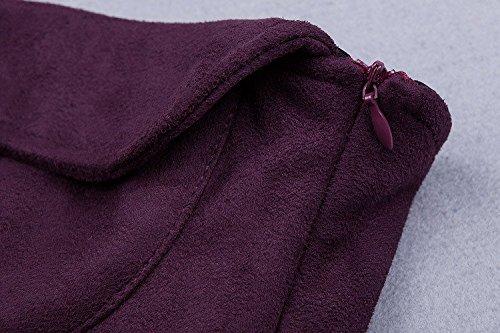 HLBandage Women Strapless Suede Bodycon Bandage Dress Morado