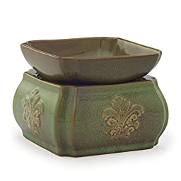 Candle Warmers Etc. Ceramic Candle Warmer and Dish, Spring Damask
