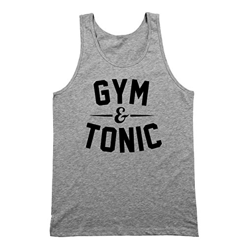 Tonic Top - Funny Threads Outlet Gym and Tonic Mens Tank Top Medium Gray