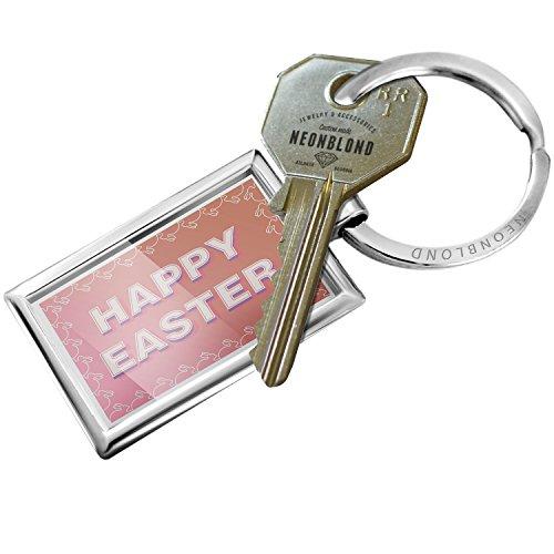 Keychain Happy Easter Bunny Border - (Easter Bunny Borders)