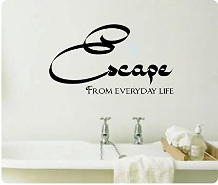 Amazon Com 24 Escape From Everyday Life Spa Bathroom Wall Decal
