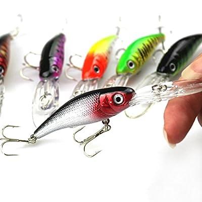COOLBUY PARK 7pcs/lot 7.6g 10 Cm Fishing Tackle Artificial Bait Fishing Lure 7 Colors Minnow Lure,Popper Lures,Crank Lures,Mix Fishing Bait