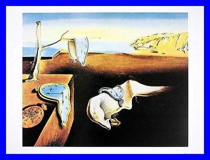 Salvador Dali – The Persistence Of Memory Relojes Póster De Impresión De Imagen en el marco