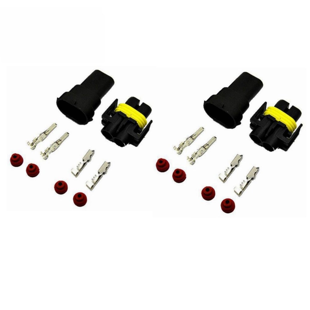 2x H8 H11 880 881 Male and Female Adapter Wiring Harness Sockets Wire Connectors for Headlights Fog Lights MUYI